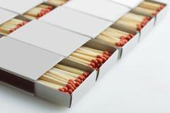 Caja con los partidos Imágenes de archivo libres de regalías