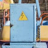 Caja con peligro de la electricidad Fotografía de archivo libre de regalías