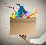 Caja creativa Foto de archivo libre de regalías