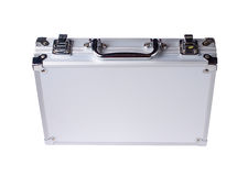 Caja de acero aislada Imagen de archivo libre de regalías