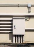 Caja de acero eléctrica Foto de archivo libre de regalías