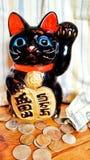 Caja de ahorros del gato imagenes de archivo