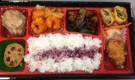 Caja de Bento de comida china fotografía de archivo