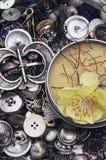Caja de botones Imagen de archivo libre de regalías