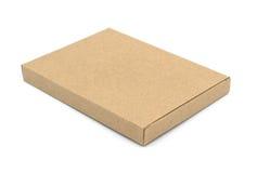 Caja de Brown en el fondo blanco Foto de archivo libre de regalías