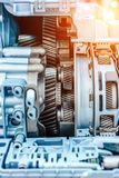 Caja de cambios hidromecánica moderna Transmisión automática imágenes de archivo libres de regalías