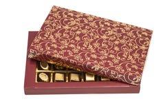 Caja de caramelos de chocolate Fotos de archivo libres de regalías