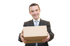 Caja de cartón Fotografía de archivo