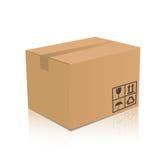 Caja de cartón Foto de archivo