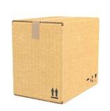 Caja de cartón. Imagenes de archivo
