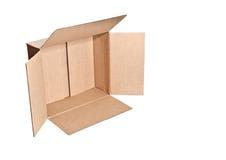 Caja de cartón Foto de archivo libre de regalías