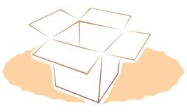 Caja de cartón Stock de ilustración