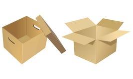 Caja de cartón Imágenes de archivo libres de regalías