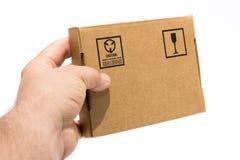 Caja de cartón Fotos de archivo