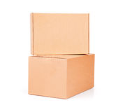 Caja de cartón acanalado Open Imagen de archivo libre de regalías