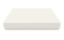 Caja de cartón aislada en blanco Fotografía de archivo libre de regalías