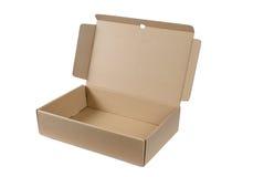 Caja de cartón aislada en el fondo blanco Fotografía de archivo libre de regalías