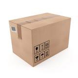 Caja de cartón cerrada Imagenes de archivo