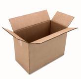 Caja de cartón con el camino Fotos de archivo