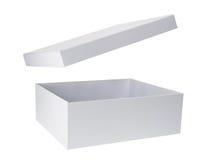 Caja de cartón con la tapa Fotografía de archivo libre de regalías