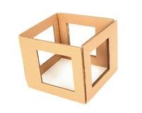 Caja de cartón con los agujeros Imagen de archivo