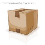 Caja de cartón cuadrada Imagen de archivo