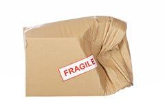 Caja de cartón dañada Fotografía de archivo libre de regalías