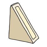 Caja de cartón del triángulo del bocadillo con la ventana Imagen de archivo