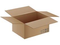 Caja de cartón del vector con símbolo del transporte. Fotografía de archivo libre de regalías