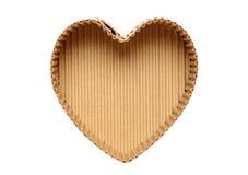 Caja de cartón en forma de corazón Fotografía de archivo libre de regalías
