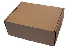 Caja de cartón en un fondo blanco Imagen de archivo