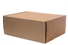 Caja de cartón en un fondo blanco 2 Imagenes de archivo