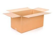 Caja de cartón Front View Fotos de archivo libres de regalías