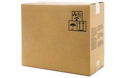 Caja de cartón grande Fotografía de archivo