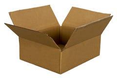 Caja de cartón para la carga y el envío aislados Imagen de archivo