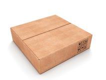 Caja de cartón rectangular Fotos de archivo libres de regalías