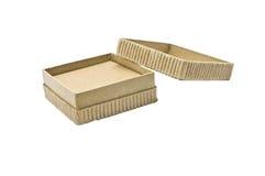Caja de cartón respetuosa del medio ambiente Imágenes de archivo libres de regalías