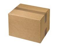 Caja de cartón sellada Foto de archivo