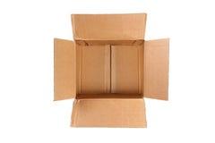 Caja de cartón vacía Imágenes de archivo libres de regalías