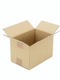 Caja de cartón vacía Fotografía de archivo