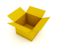 Caja de cartón vacía Imagenes de archivo
