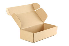 Caja de cartón vacía Imagen de archivo libre de regalías