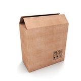 Caja de cartón vacía abierta Imagen de archivo