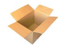 Caja de cartón vieja Imágenes de archivo libres de regalías