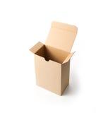 Caja de cartón en blanco Fotos de archivo libres de regalías