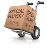 Caja de cartón especial de la entrega del paquete Fotos de archivo