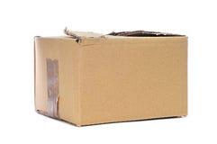 Caja de cartón gastada Imágenes de archivo libres de regalías
