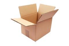 Caja de cartón vacía Foto de archivo