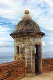 Caja de centinela de un fuerte de piedra, San Juan, Puerto Rico Foto de archivo