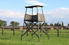 Caja de centinela en Auschwitz Birkenau Foto de archivo libre de regalías